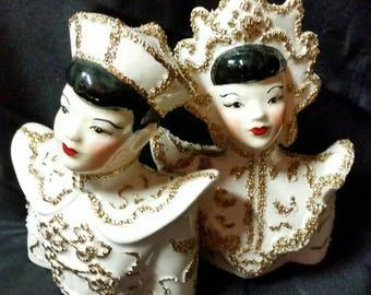 Boy & Girl Porcelain Busts