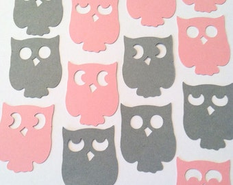 Owl Confetti Birthday Party Decor Baby Shower Table Sprinkles Halloween, Scrapbook or Card Making Die Cut, Color Options