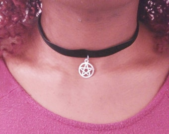 Witchy Pentacle Choker | Wicca Necklace | Witchcraft Symbol