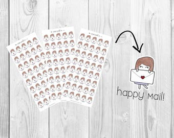 Planner Stickers, Mail, Happy Mail by PaperPastelCo