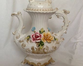 Large Capodimente Centrepiece Teapot Ornament Italian Vintage Porcelain LAY BY AVAILABLE ( Ref no. A218 )