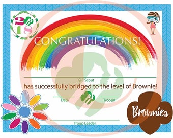 Girl Scout Bridging Certificate - Daisy to Brownie