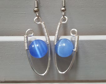 Wire Wrap Design Earrings
