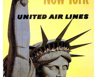 American Airlines New York print