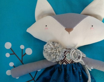 Gooroomi Foxy Fox Girl Heirloom Cloth Doll - Item FOX0014