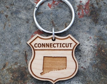 Connecticut State KEYCHAIN