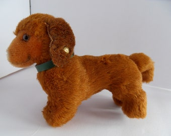 Steiff dog dachsund small button made in Germany 2450