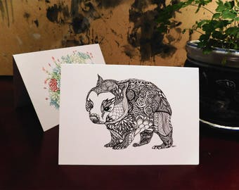 Wombat Greeting Card