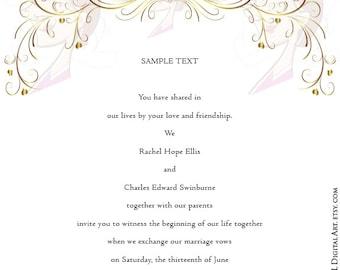 GOLD Retro Swirl Page Border Decoration Elegant Curly Flourishes Heart Romance Wedding Graphics Decorative Design Png