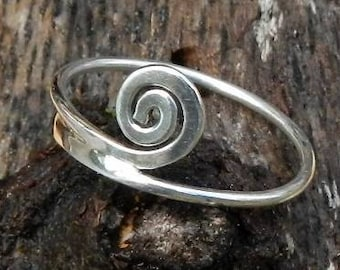 Sterling Silver Swirl Stackable Ring