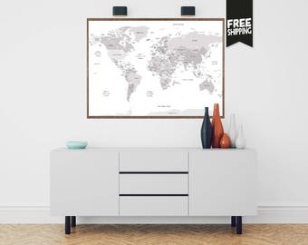 World map decor etsy world map world map wall art world map print world map poster gumiabroncs Image collections