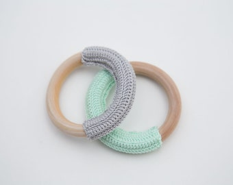 Crochet Wooden Teething Ring