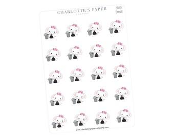 Trash Planner Stickers / Planner Stickers / Erin Condren / Happy Planner /Traveler's Notebook / Agenda / Garbage / Elephant Stickers / SD19
