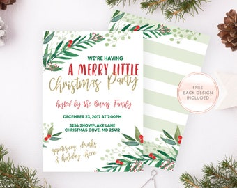 Christmas Party Invitation, Holiday Party Invitations, Christmas Cheer, Christmas Party, Christmas, Christmas Invites, Holiday Invites [676]