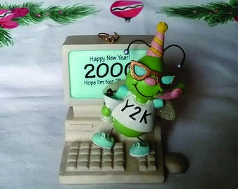 Y2K Bug Christmas Ornament 2000 Bug for Computer Nerd Geek