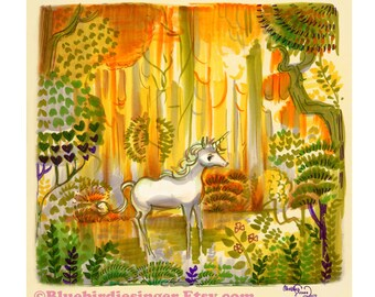 Saint Francis Unicorn The last Unicorn Art Print