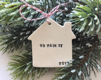 new home Christmas ornament with your name address date