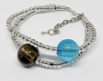 Beaded wrap bracelet, wrap bracelet, woman bracelet, multi-strand bracelet