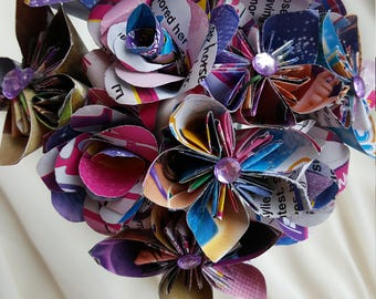 Barbie inspired paper flower bouquet