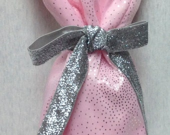 The Party Dress: Wine Bottle Bag (Pink Sparkle)