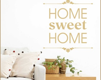 Home SWEET HOME Vinyl Wall Decal Quote Q-112