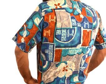 Vintage 60s Barefoot Paradise Hawaiian Shirt
