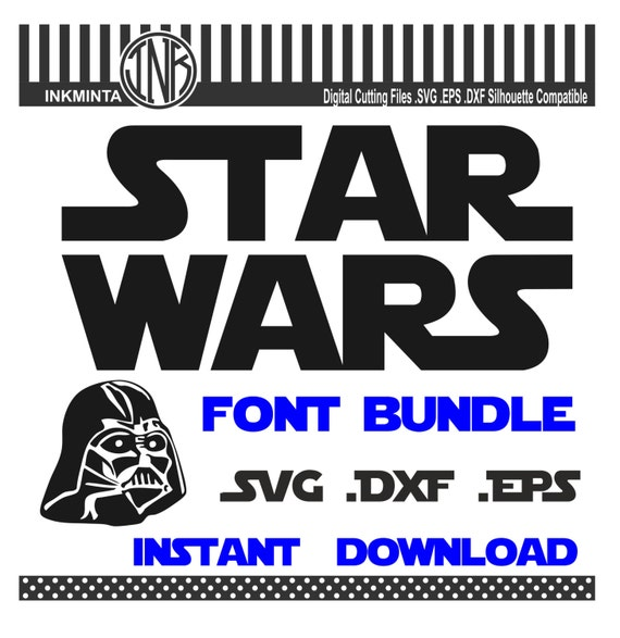 star wars font svg star wars svg star wars font design starwars logo svg filessvg star wars starwars no 18 from inkminta on etsy studio