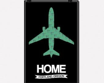 Portland PDX Carpet Poster 11x17
