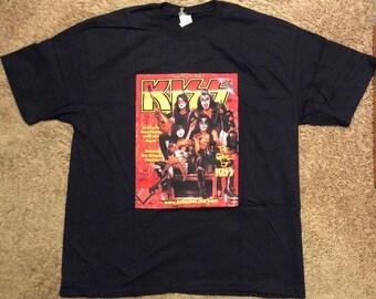 """KISS: """"Quarterly Magazine Premiere Issue #1"""" T-Shirt & Magazine...VERY RARE"""