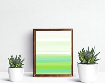 Green Teal Abstract Art, Digital Painting, Green Teal Wall Art, Home Decor Painting, Living Room Art, Print Wall Art. Downloadable File