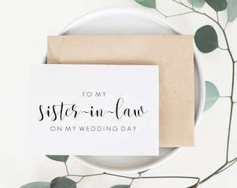 To My Sister In Law Card. Sister In Law Card. Sister In Law Wedding Card. Wedding Card For Sister In Law. Family Wedding Cards.
