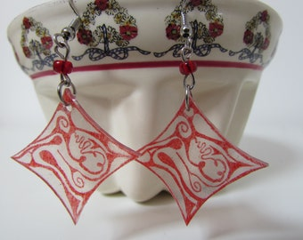 Earrings dangling tiles