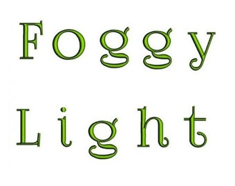 Foggy Light Machine Embroidery Font - Satin Script (Upper Case & Lower Case) 1,2,3,4 inches