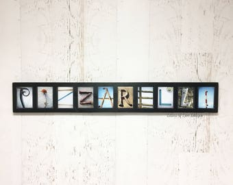 Last Name Pictures, 10 11 12 Letter Photos, Custom Last Name Wood Sign,