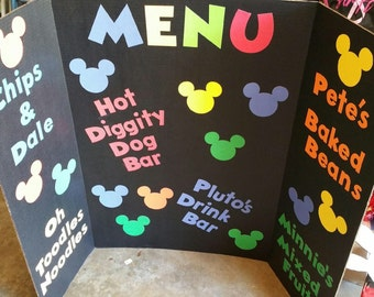 Cut outs for menu board