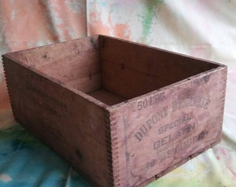 Antique wooden crate