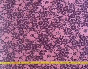 "NEW Abstract Group Purple and Pink Floral on  cotton lycra 95/5 58"" wide sold per yard"