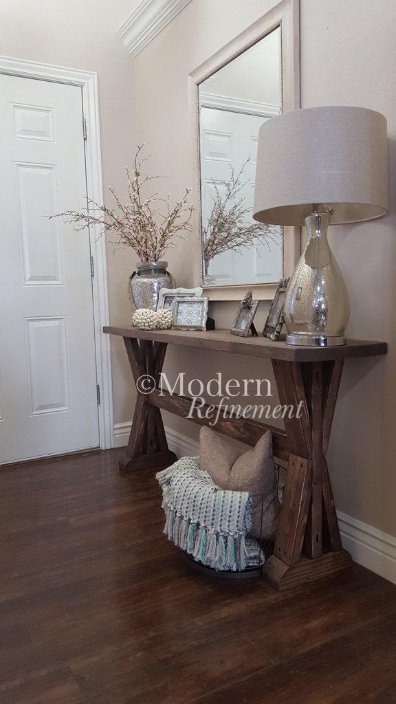 Farmhouse Foyer Quotes : The sawyer rustic farmhouse entryway table sofa