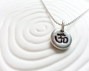 Ohm Necklace- Ohm Symbol Pendant - Yoga Jewelry