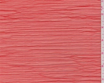 Fire Red Pleated Mesh, Fabric By The Yard