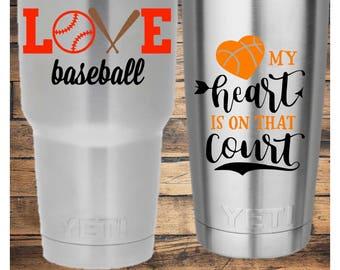 Baseball or Basketball Decal