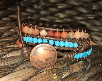 Made to order wrap or cuff bracelet
