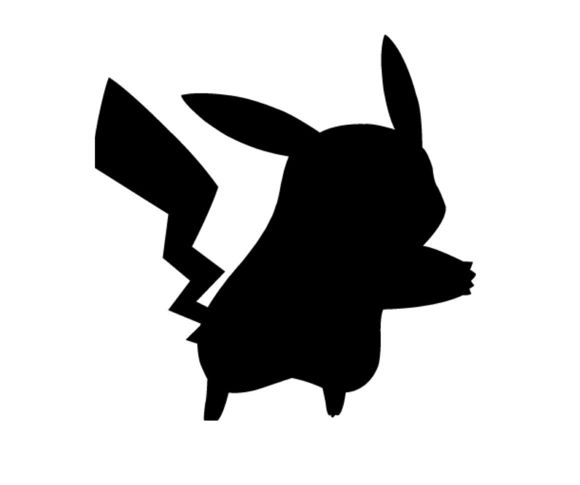 Free Silhouette Images Pikachu Stencil Made From 4 Ply Mat Board