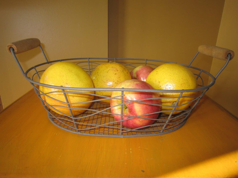 Metal Basket Wire Basket Wire Egg Basket Vintage Basket