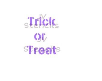 Trick or Treat Stencil