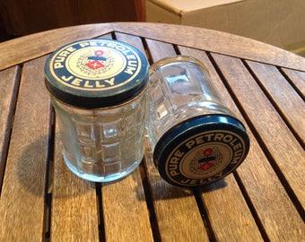 Vintage S.H. KRESS Pure Petroleum Jelly Glass Jars (2)