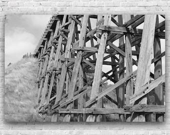 Nimmon's Bridge 2- Photography, Print, Bridge, Sepia, wall art, poster, Ballarat, Skipton Rail Trail