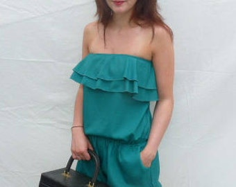 Emerald green Lulu Loves jumpsuit
