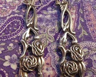 Antique Silver Plate Spoon Earrings