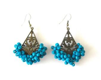 Blue Splash Earrings